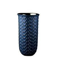 Ваза Ceramika Design Xago синего цвета с серебристым орнаментом, фото