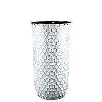 Ваза Ceramika Design Xago декорированная гексагональной сеткой, фото