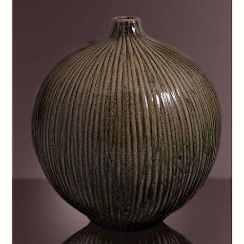 Ваза Modern Art интерьерная коричневая, фото
