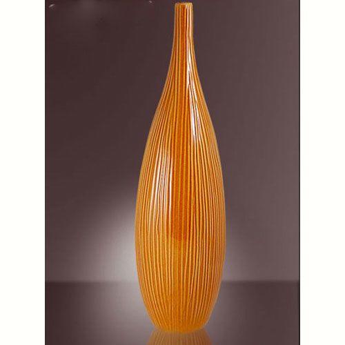 Ваза Modern Art интерьерная оранжевая маленькая, фото