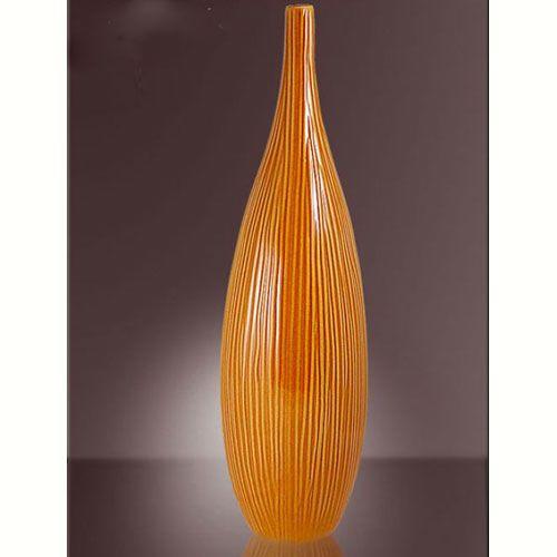 Ваза Modern Art интерьерная высокая оранжевая, фото