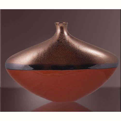 Ваза интерьерная Modern Art красная круглая, фото