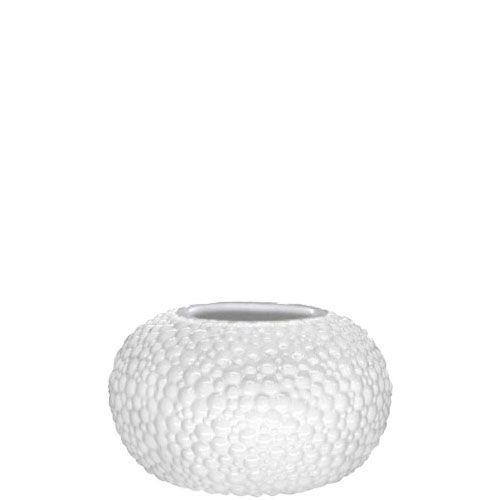 Круглая белая ваза Eterna Этна керамическая фактурная глянцевая большая, фото