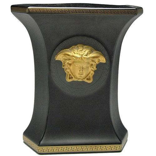 Фарфоровая ваза Rosenthal Versace Gorgona черного цвета, фото