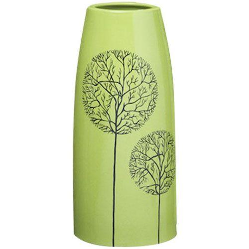 Зеленая ваза Eterna Зимний Сад глянцевая керамическая малая 27 см, фото