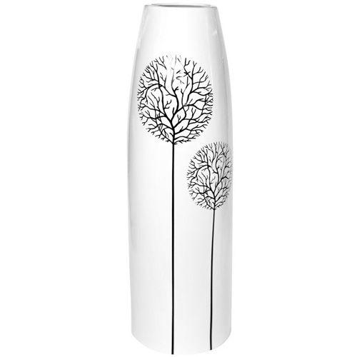 Высокая белая ваза Eterna Зимний Сад глянцевая керамическая 38 см, фото