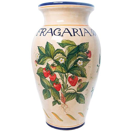 Напольная ваза L'Antica Deruta Ботаника Fragaria, фото