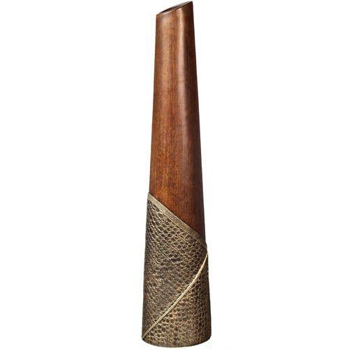 Ваза-конус Eterna 66 см в эко-стиле с имитацией дерева и фактуры кожи, фото