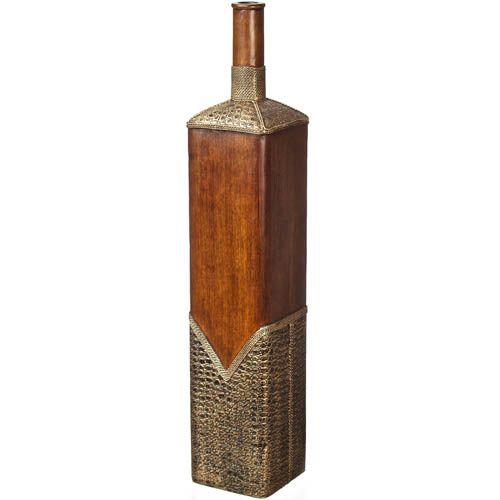 Декоративная ваза-бутылка Eterna 61 см квадратная из полистоуна, фото