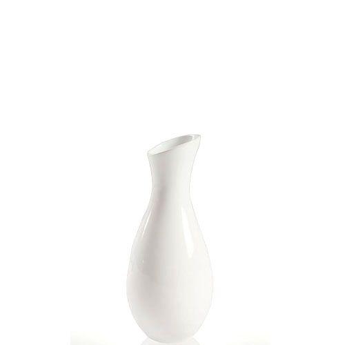 Белая ваза Eterna Candy глянцевая керамическая узкая маленькая, фото