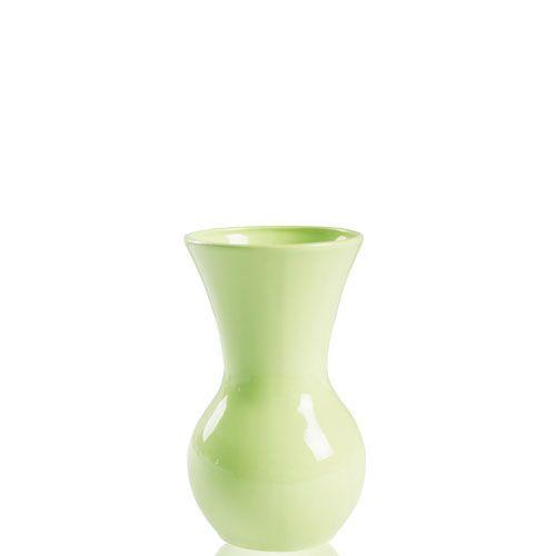 Светло-зеленая ваза Eterna Candy керамическая глянцевая 19 см с широким горлом, фото