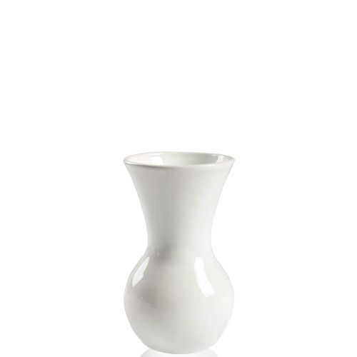 Белая ваза Eterna Candy керамическая глянцевая 19 см с широким горлом, фото