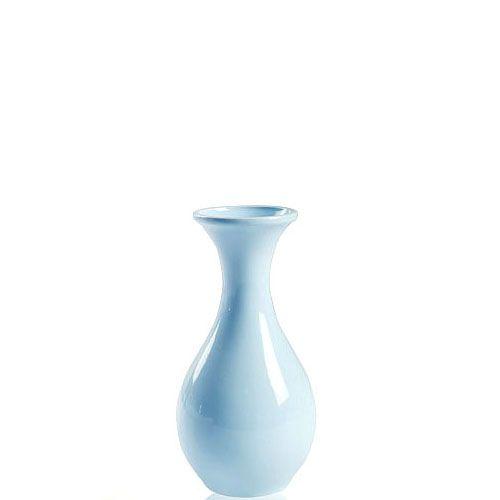 Голубая глянцевая ваза Eterna Candy керамическая маленькая 14 см, фото