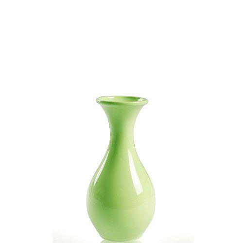 Нежно-зеленая ваза Eterna Candy глянцевая керамическая маленькая 14 см, фото
