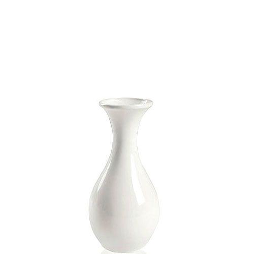 Белая глянцевая ваза Eterna Candy керамическая маленькая 14 см, фото