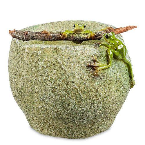 Ваза Pavone ED Лягушки на камне, фото