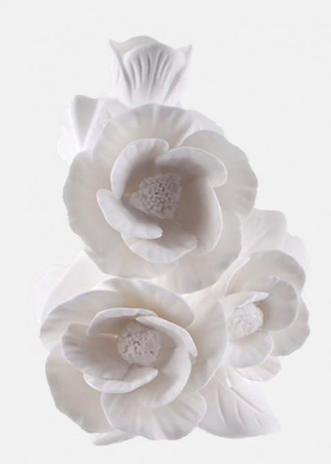 Ваза Цветы Пиона Enesco из бисквитного фарфора, фото