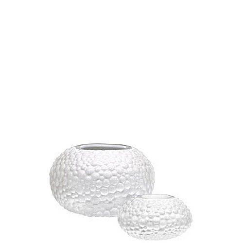 Набор Eterna Этна белый из круглой вазочки и подсвечника, фото