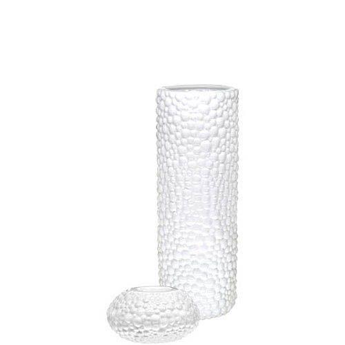 Набор Eterna Этна белый из вазы и подсвечника, фото