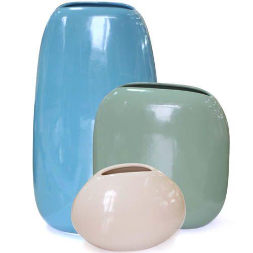 Набор ваз Eterna Морские Камни из глянцевой керамики, фото