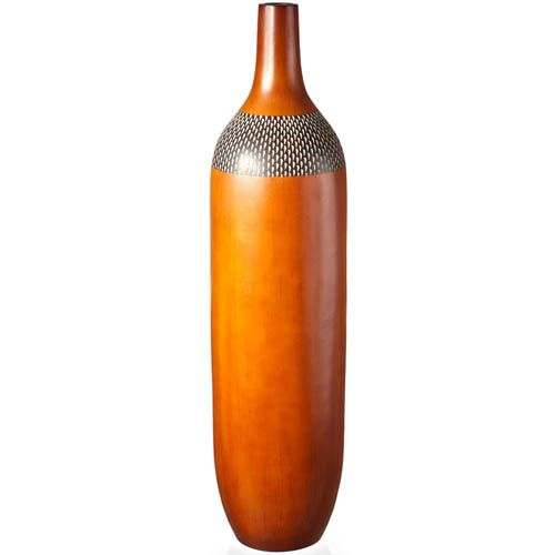 Ваза-бутылка Eterna 66 см светло-коричневая под дерево, фото