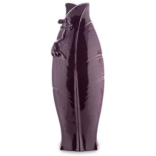 Фарфоровая ваза Pavone FM Тропические лягушки темно-фиолетовая, фото