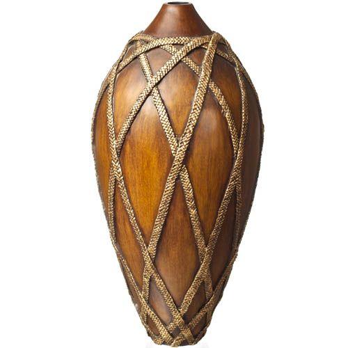 Ваза-декор Eterna 51 см под дерево с имитацией плетеных веревочек, фото