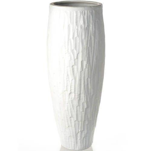 Белая ваза Eterna рельефная матовая большая 35 см, фото