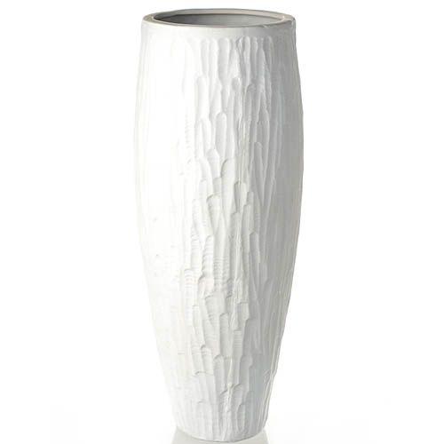 Белая ваза Eterna рельефная матовая малая 26 см, фото