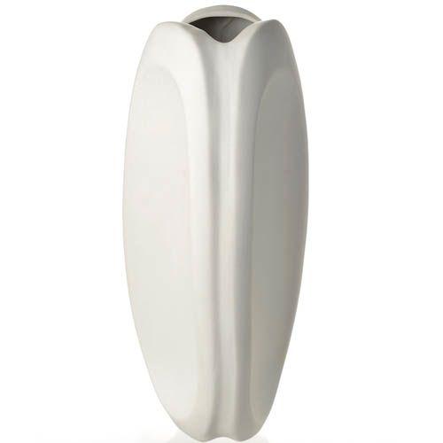 Белая ваза-тюльпан Eterna керамическая матовая 30 см, фото