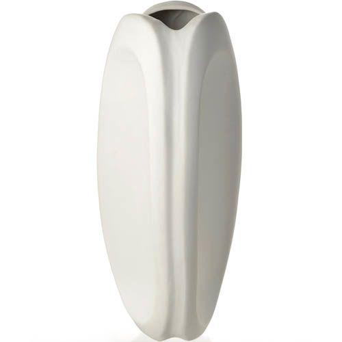 Белая ваза-тюльпан Eterna керамическая матовая большая 36 см, фото