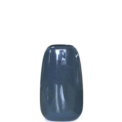 Плоская большая ваза Eterna Морские Камни темно-синяя керамическая глянцевая, фото