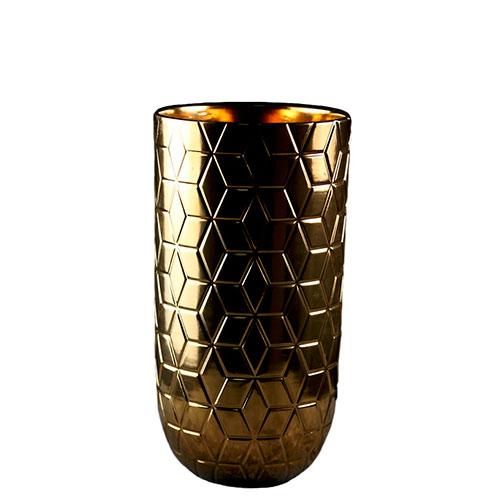 Ваза Ceramika Design Geoma золотистого цвета, фото