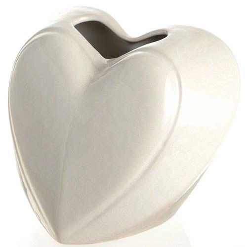 Маленькая ваза-сердце Eterna Невеста белая керамическая глянцевая, фото