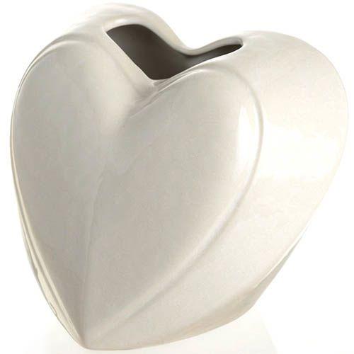Ваза-сердце Eterna Невеста белая керамическая глянцевая малая 15 см, фото