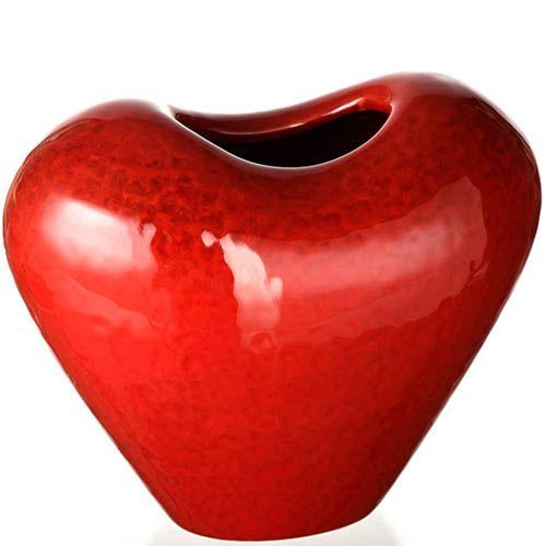 Ваза в форме сердца Eterna Пламя красная глянцевая, фото