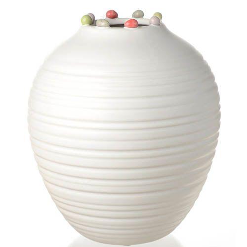 Широкая ваза с узким горлышком Eterna Самоцветы малая 18 см, фото