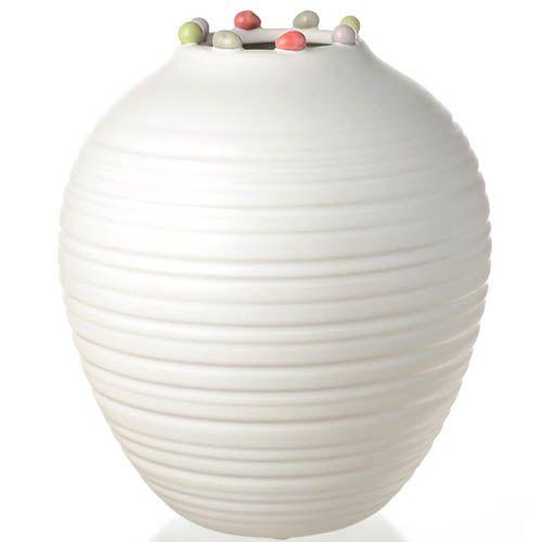 Широкая ваза с узким горлышком Eterna Самоцветы средняя 23 см, фото