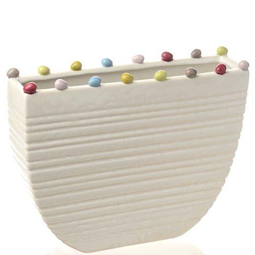 Плоская ваза-декор Eterna Самоцветы шириной 20 см, фото