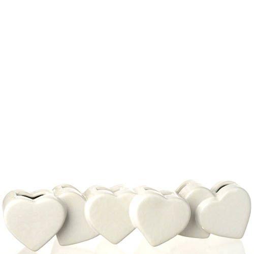 Длинная ваза Eterna Невеста белая керамическая глянцевая в виде соединенных сердец, фото