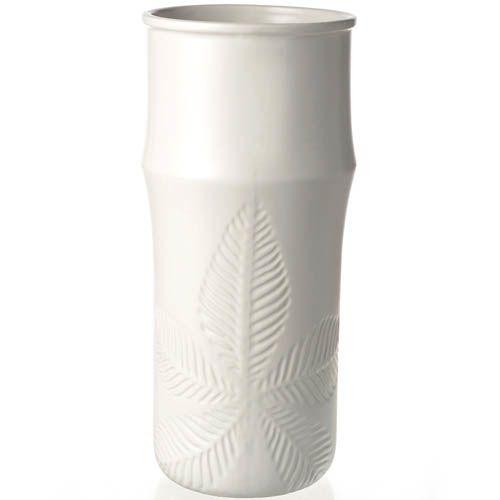 Ваза Eterna керамическая матовая белая 27 см, фото