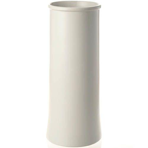 Белая матовая ваза Eterna с четкими формами 23 см, фото