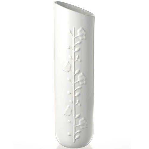 Ваза Eterna Глянец белая высокая 36 см со скошенным горлышком, фото