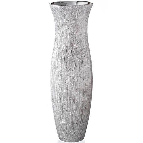 Ваза Eterna Серебряный дождь узкая высокая 39 см, фото