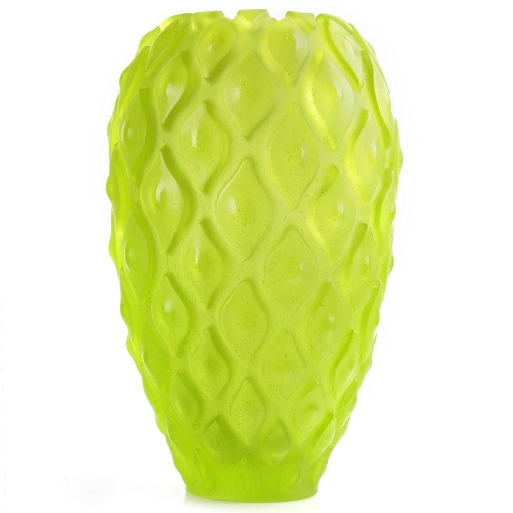 Хрустальная ваза Daum Calicia green