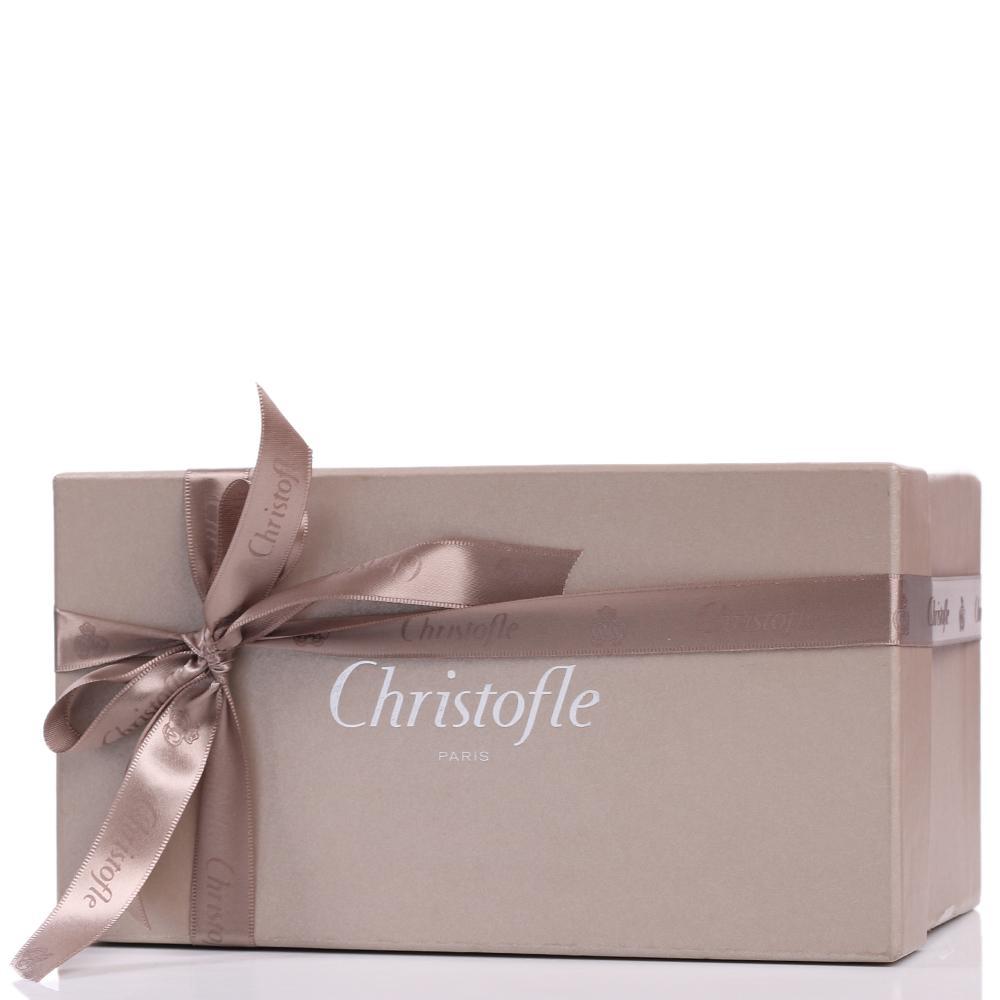 Посеребренная хрустальная ваза Christofle Рыбы