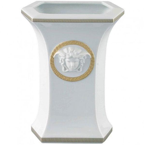 Настольная ваза Rosenthal Versace Gorgona из белого фарфора