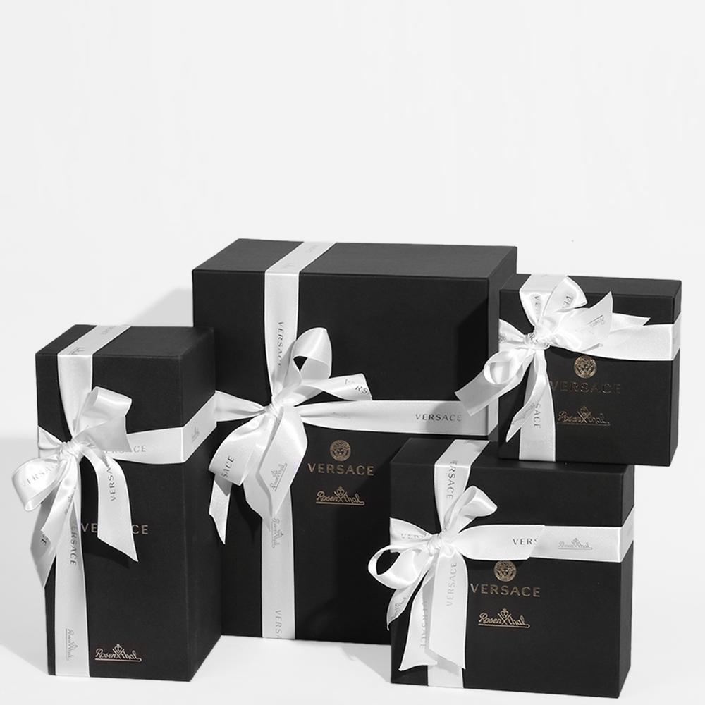 Ваза с крышкой Rosenthal Versace Vanitas из черного фарфора