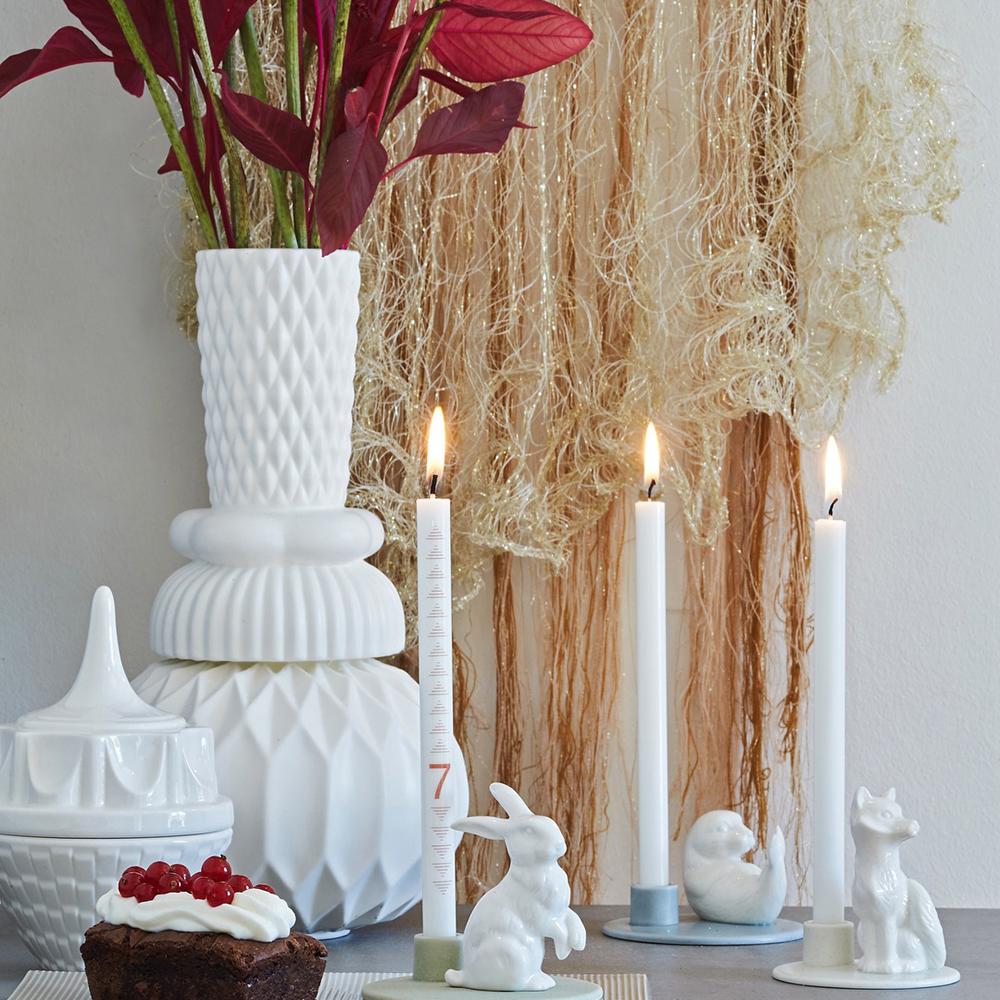 Настольная ваза Dottir Samsurium Honkadonka white