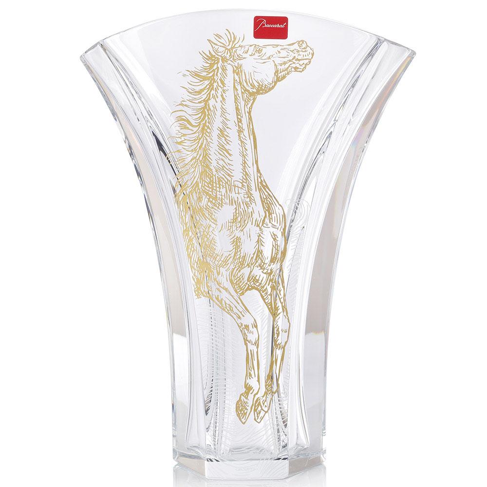Хрустальная ваза с позолотой Baccarat Apollo Ginkgo